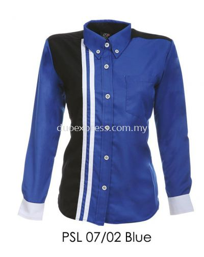 PSL 07 02 Blue Ladies Corporate Shirt