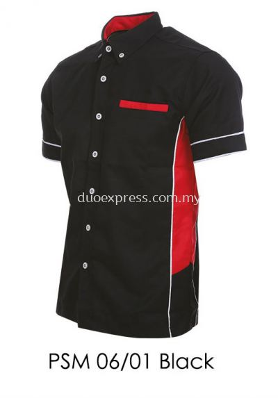 PSM 06 01 Black Unisex Corporate Shirt