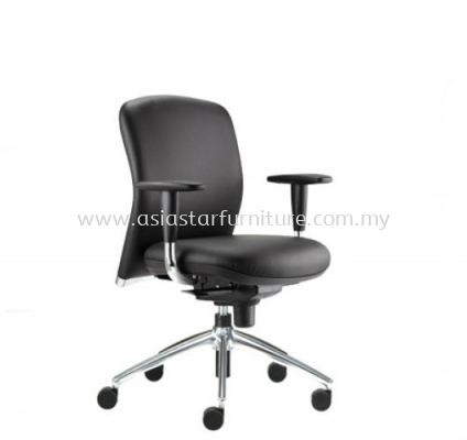 BRYON LOW BACK CHAIR C/W ALUMINIUM BASE BY-3L