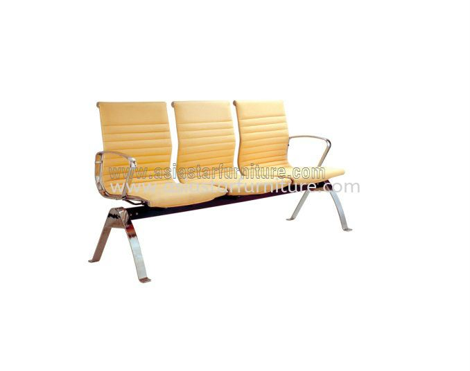 LEO THREE SEATER LINK CHAIR UPHOLSTERY WITH CHROME BODY FRAME ACL 8400-(3)