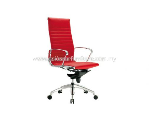 LEO HIGH BACK CHAIR UPHOLSTERY WITH CHROME BODY FRAME ACL 8800