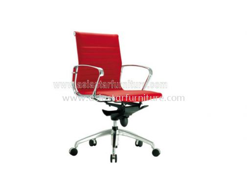 LEO LOW BACK CHAIR UPHOLSTERY WITH CHROME BODY FRAME ACL 8700
