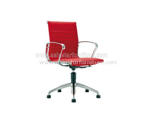 LEO VISITOR CHAIR UPHOLSTERY WITH CHROME BODY FRAME ACL 8500 (AUTO-RETURN)