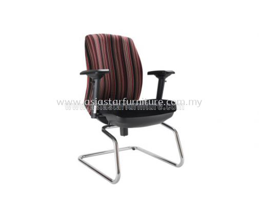 LINEAR VISITOR CHAIR WITH CHROME CANTILEVER BASE ACL 6446