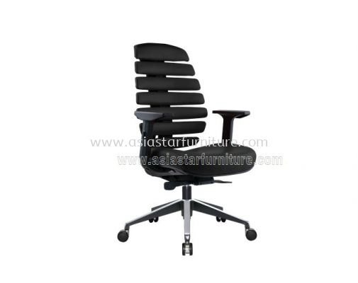 YOGA MEDIUM BACK CHAIR WITH TWO TONE ALUMINIUM ROCKET DIE-CAST BASE WITH SIDE EPOXY BLACK ACL 2229