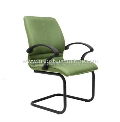 BONZER VISITOR CHAIR WITH EPOXY BLACK CANTILEVER BASE C/W ARMREST ACL 6003