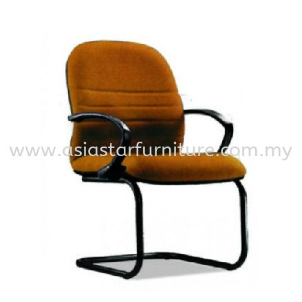 HYDE VISITOR CHAIR WITH BLACK EPOXY CANTILEVER BASE WITH ARMREST HS4