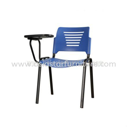 AEXIS PP CHAIR C/W WRITING TABLET & 4 LEGGED EPOXY BLACK METAL BASE- folding/training chair - computer chair subang light industrial park   folding/training chair - computer chair taman perindustrian park   folding/training chair - computer chair pudu plaza