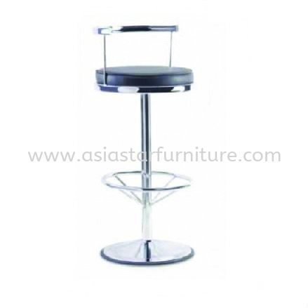 HIGH BARSTOOL CHAIR C/W ROUND CHROME METAL ST5 - The Garden | Mid Valley | One Utama | Sunway Pyramid | TOP 10 RECOMMENDED BARSTOOL CHAIR