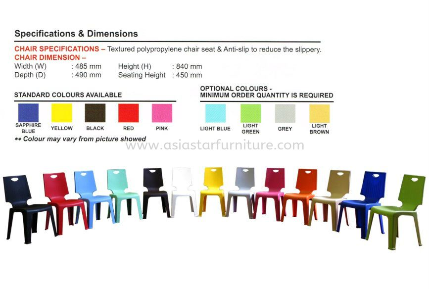 V CHAIR SPECIFICATION