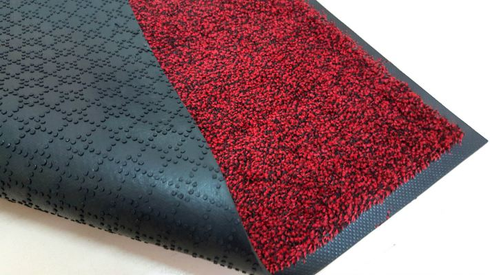 Entrance Mat - Laundry Mat (Dust Control Mat) - Black Red