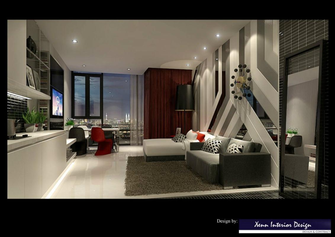 Soho Living Room Design Soho Living Room Design Soho Unit Interior Design Selangor, Kuala Lumpur (KL), Malaysia, Kajang Service | Xenn Interior Design