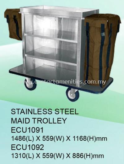 ECU1091/ECU1092 - S/Steel Maid Trolley