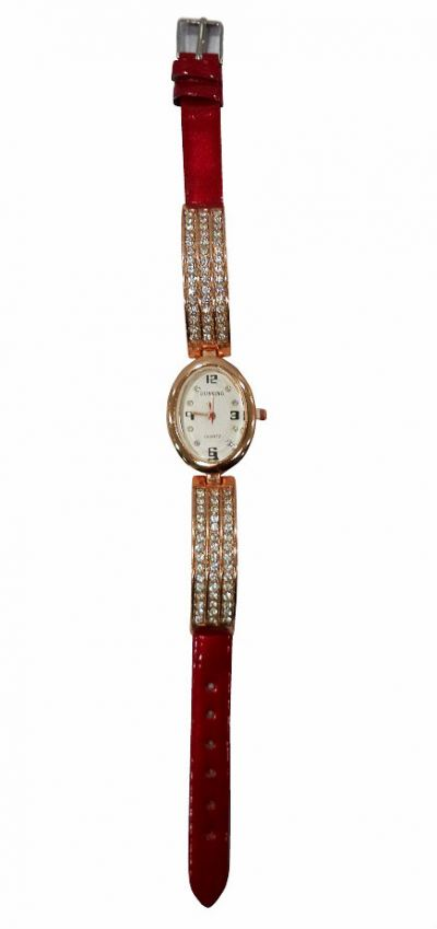 PU Leather Luxurious Watch Stone (Vampire Red)