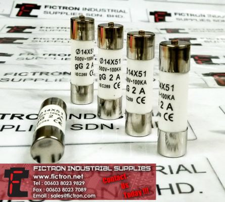 2A 660V 14X51 IEC269 EN60629 Cylindrical Fuse Link Supply Malaysia Singapore Thailand Indonesia Philippines Vietnam Europe & USA