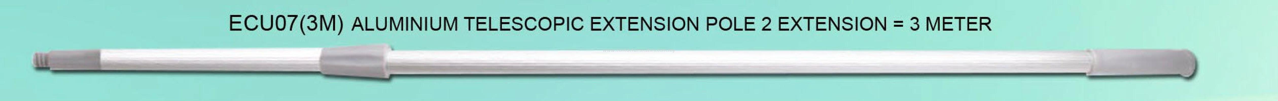 ECU07(3M) - Aluminium Telescopic Extension Pole 2 Extension (3M)