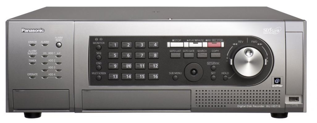 PANASONIC DIGITAL DISK RECODER-WJ-HD716
