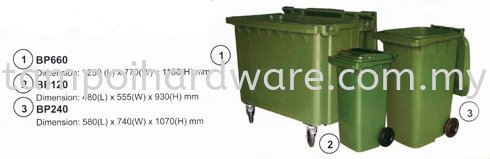 Plastic Rubbish Pail with Wheel Rubbish Pail Hygiene and Cleaning Tools