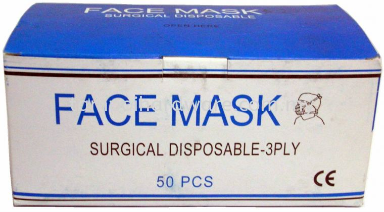 Three Ply Surgical Mask Respirators Personal Protective Equipments