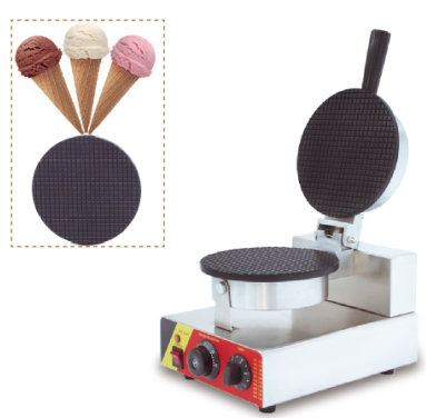 Waffle Ice Cream Cone Maker Machine Electric Commercial