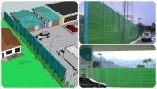 Metal Acoustic Barrier Metal Noise Barrier Noise Barrier
