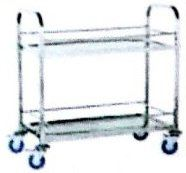 SQUARE TUBE BEVERAGE TROLLEY 2 TIER RB-6