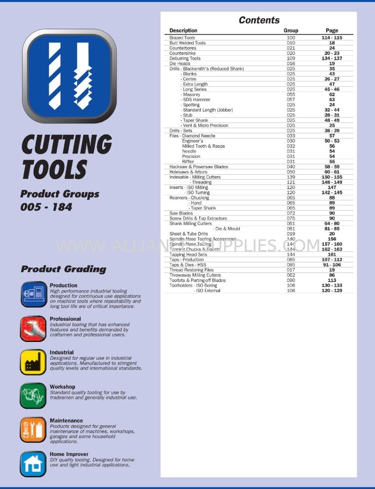 08.01.1 Cutting Tools- Sherwood, SwissTech, Kennedy, Senator, Yamaloy, Swiss Burr, Indexa Seiki 8.01 Cutting Tools 08.CROMWELL (MY)