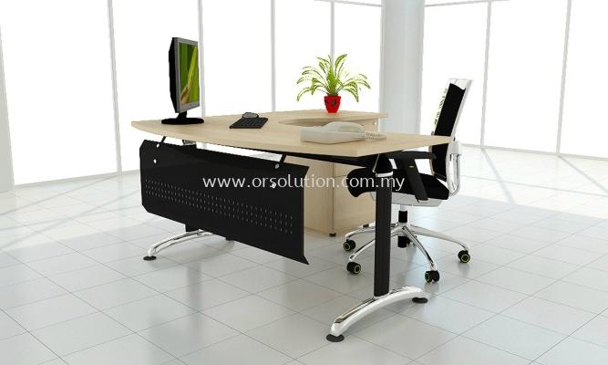 Steel Leg L Shape Table Fix Pedestal FST (129)