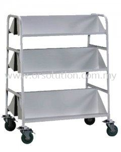 Book Trolley With 3 Slanting