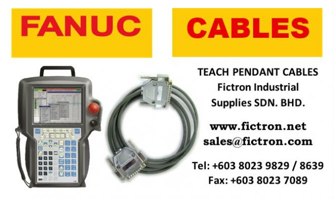 A660-2005-T464#L7 FANUC Teach Pendant Cable 7 Meter B-Cab Control Reliable FANUC Supply Malaysia Singapore Thailand Indonesia Philippines Vietnam Europe & USA