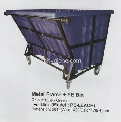 PE-LEACH (1500lit Metal Frame + PE Bin)