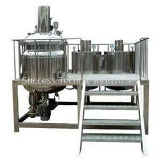 """DVH900-1000 """"Dyna Cosmo"""" 100L Fix Types Vacuum emulsifier Mixers with Oil & Water Phase Tank ORDER CODE:8569200"""
