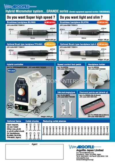 Hybrid Micromotor System Series