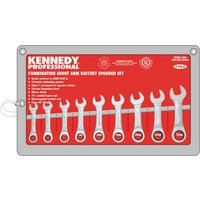 KEN-582-2236K - 10-19mm SHORT RATCHET COMBINATION SPANNER SET 9PC Hand Tools Cromwell Tools