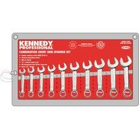 KEN-582-2225K - 10-19mm SHORT ARM COMBINATION SPANNER SET 10PC Hand Tools Cromwell Tools