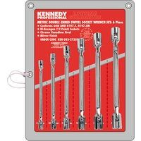 KEN-582-3725K - 8-19mm DOUBLE ENDED SWIVEL SOCKET SET 6PC Hand Tools Cromwell Tools