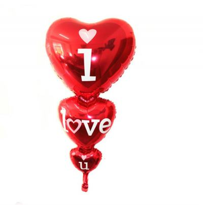 Joint 3 layer I LOVE U foil balloon
