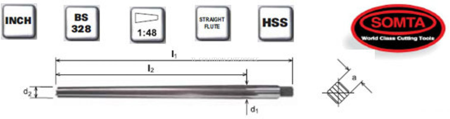 Hand Taper Pin Reamers (HSS)