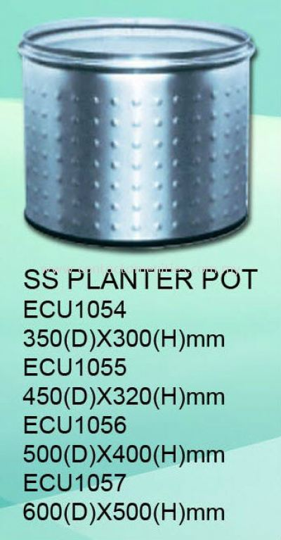 ECU1054/1055/1056/1057 - SS Planter Pot