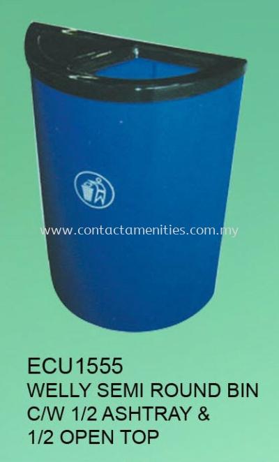 ECU1555 - Welly Semi Round Bin c/w Ashtray & Open Top