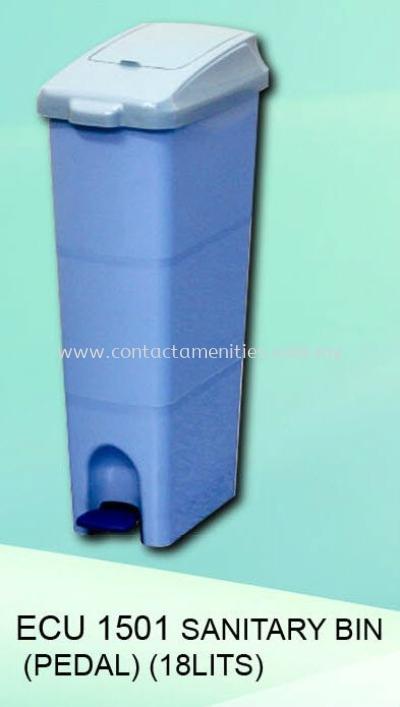 ECU1501 - Sanitary Bin c/w Pedal (18L)