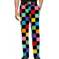 MENS GOLF PANTS HOLLYWOODY SQUARES BLACK