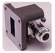 X281A Coaxial Waveguide Adapter, Type-N (f), 8.2 to 12.4 GHz