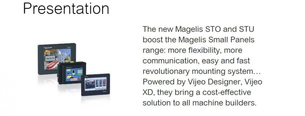 Magelis STU and STO Small Panels