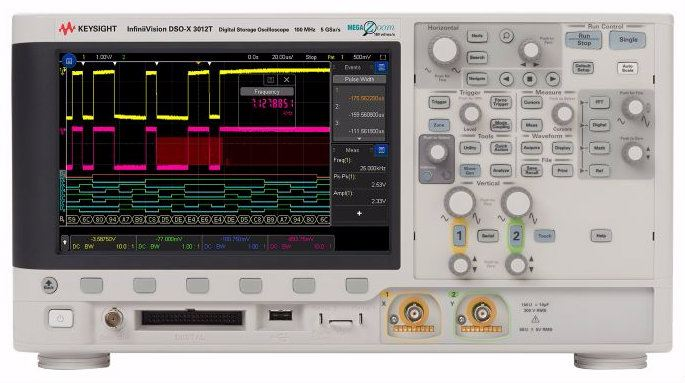 MSOX3012T Mixed Signal Oscilloscope: 100 MHz, 2 Analog Plus 16 Digital Channels Oscilloscope  Keysight Technologies