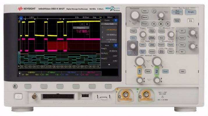 MSOX3104T Mixed Signal Oscilloscope: 1 GHz, 4 Analog Plus 16 Digital Channels