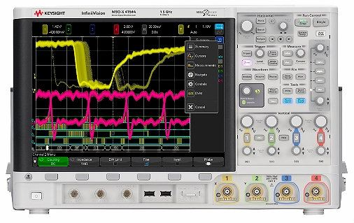 MSOX4154A Mixed Signal Oscilloscope: 1.5 GHz, 4 Analog Plus 16 Digital Channels Oscilloscope  Keysight Technologies