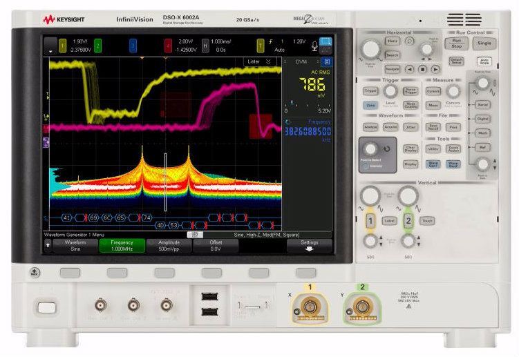 DSOX6002A Oscilloscope: 1 GHz - 6 GHz, 2 Analog Channels Oscilloscope  Keysight Technologies
