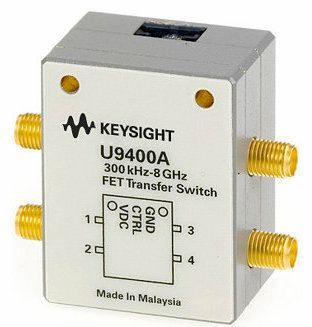 U9400A Solid State FET Transfer Switch, 300 KHz to 8 GHz