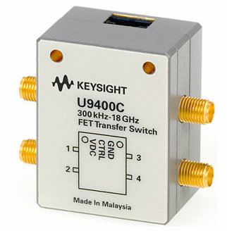 U9400C Solid State FET Transfer Switch, 300 KHz to 18 GHz  RF and Microwave Test Accessories  Keysight Technologies